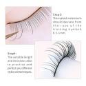 25 Pairs Practice Lashes for Eyelash Extensions Supplies Training Eye Lash Strips