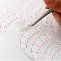 Practice Lashes for Eyelash Extensions, 25 Pairs Training Lashes Practice Eyelash Strips Self Adhesive