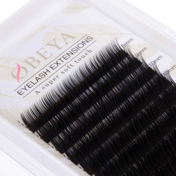 2 Trays C D Curl Eyelash Extensions 0.15 Thickness 8-15mm Mixed Tray Korea PBT Fiber Individual Eyelashes by OBEYA