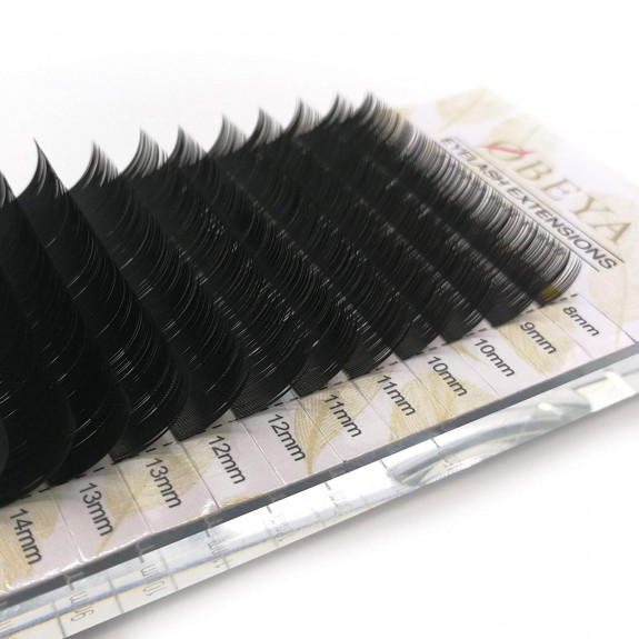 C D Curl 0.05 0.07 0.1 0.12 0.25 Thickness 8-15mm Mixed Tray Russian Volume Individual Lash Extensions by OBEYA