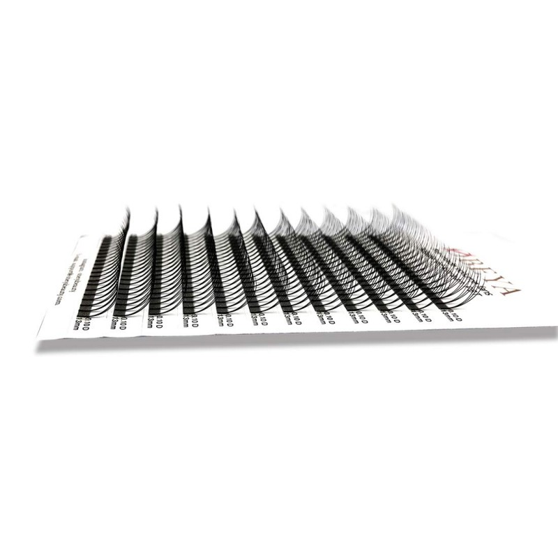 0.07 C D Curl 9-16mm Mixed Trays and 12-15mm Single Length Long Stem 3D Premade Volume Eyelash Extensions