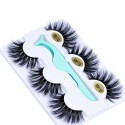 Wholesale 3 Pairs Popular 3D 20mm Real Mink Eyelashes