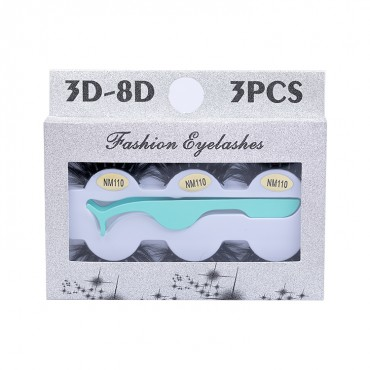 3 Pairs Popular 3D 20mm Real Mink Eyelashes