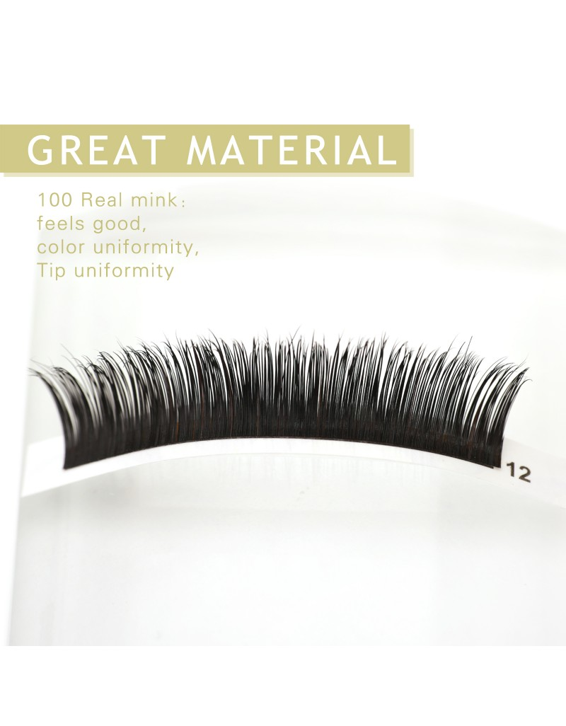 Mink Mixed D-Curl Black Synthetic  Eyelash Extension Tray by INFINIT | 12 Rows - Thickness: 0.15mm or 0.20mm X Lengths: 8mm~17mm | For Individual Lash Extensions (0.20) wholesale vendors