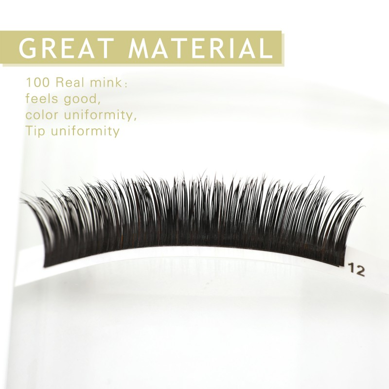 Mink Mixed D-Curl Black Synthetic 0.15mm or 0.20mm X Lengths: 8mm~17mm  Individual Lash Extensions (0.20) wholesale vendors