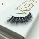 3D Mink Crown Grade 100% Siberian Fur Fake Eyelashes C01