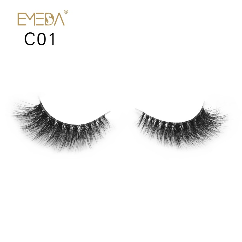 3D Mink crown grade c01 False Eyelashes-Dramatic Makeup Strip Eyelashes 100% Siberian Fur Fake Eyelashes Hand-made Natural Messy False Eyelashes& Reusable