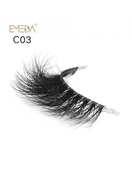 3D Mink crown grade c03 False Eyelashes-Dramatic Makeup Strip Eyelashes 100% Siberian Fur Fake Eyelashes Hand-made Natural Messy False Eyelashes& Reusable