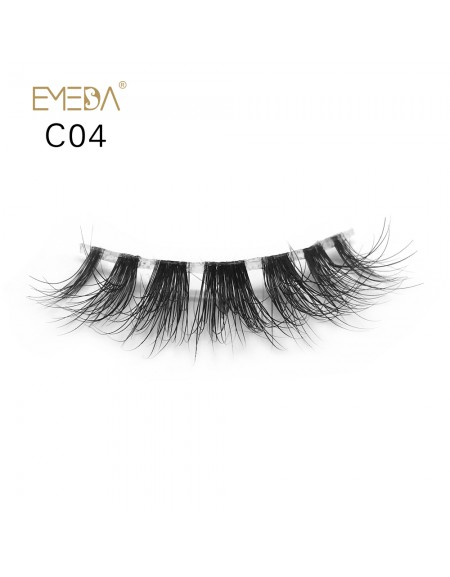 3D Mink crown grade c04 False Eyelashes-Dramatic Makeup Strip Eyelashes 100% Siberian Fur Fake Eyelashes Hand-made Natural Messy False Eyelashes& Reusable