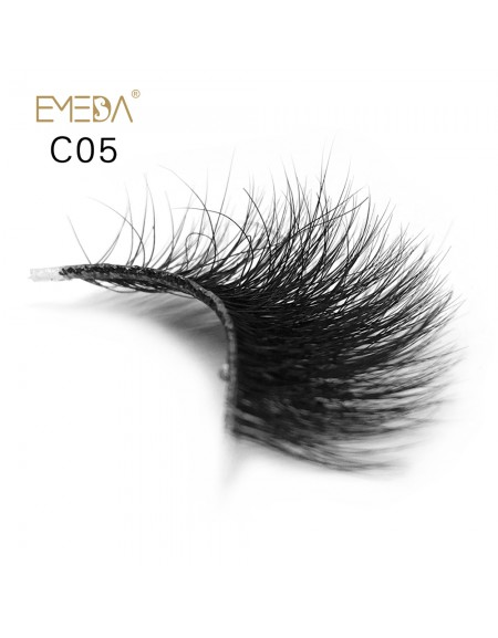 3D Mink crown grade c05 False Eyelashes-Dramatic Makeup Strip Eyelashes 100% Siberian Fur Fake Eyelashes Hand-made Natural Messy False Eyelashes& Reusable