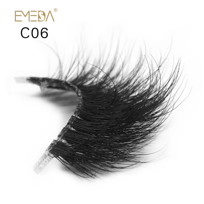 3D Mink Crown Grade 100% Siberian Fur Fake Eyelashes C06