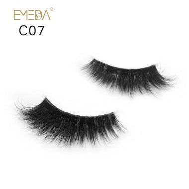 3D Mink crown grade c07 False Eyelashes-Dramatic Makeup Strip Eyelashes 100% Siberian Fur Fake Eyelashes Hand-made Natural Messy False Eyelashes& Reusable
