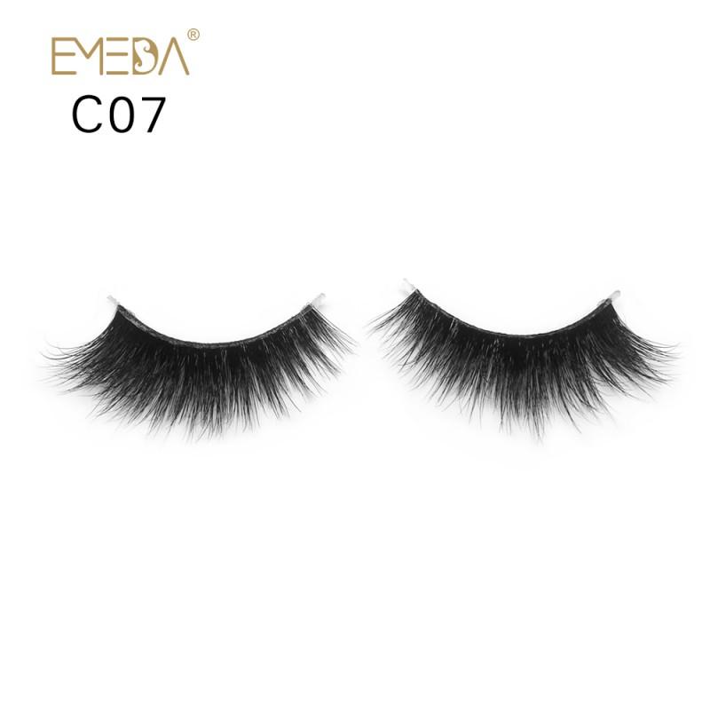 3D Mink crown grade c07 False Eyelashes-Dramatic Makeup Strip Eyelashes 100% Siberian Fur Fake Eyelashes Hand-made Natural Messy False Eyelashes& Reusable