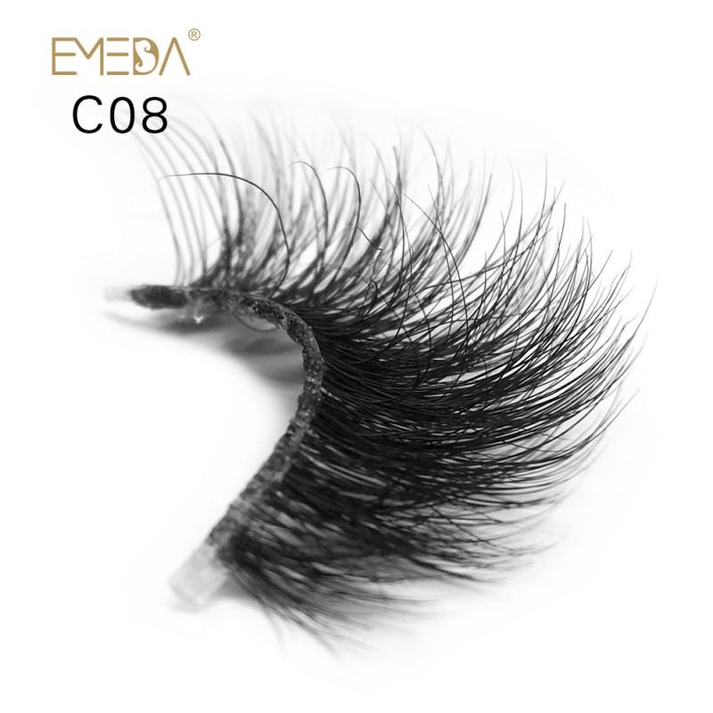 83af6750516 3D Mink crown grade c08 False Eyelashes-Dramatic Makeup Strip Eyelashes 100%  Siberian Fur