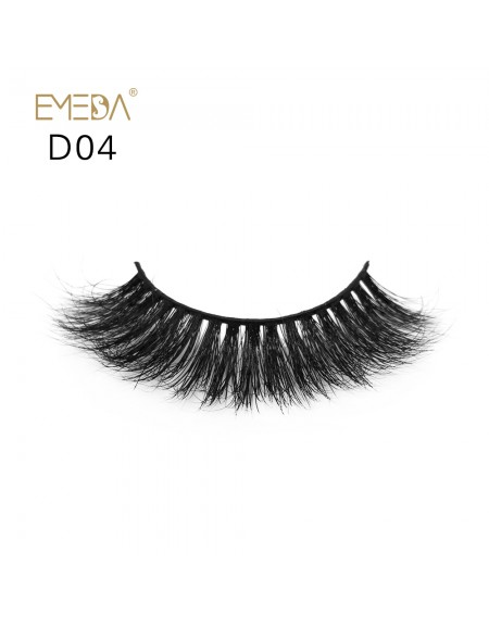 Mink 3D mink diamond grade D04 Lashes Dramatic Makeup High Quality Strip Eyelashes 100% Siberian Fur Fake Eyelashes Hand-made False Eyelashes