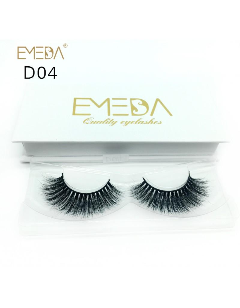 Mink 3D mink diamond grade D04 Lashes Dramatic Makeup High Quality Strip Eyelashes 100% Siberian Fur Fake Eyelashes Hand-made False Eyelashes