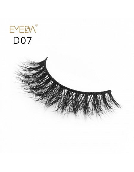Mink 3D mink diamond grade D07 Lashes Dramatic Makeup High Quality Strip Eyelashes 100% Siberian Fur Fake Eyelashes Hand-made False Eyelashes