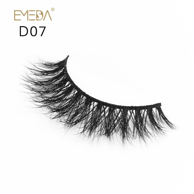 Mink 3D mink diamond grade D07 Lashes Dramatic Makeup High Quality Strip Eyelashes 100% Siberian Fur Fake Eyelashes Hand-made False Eyelashes