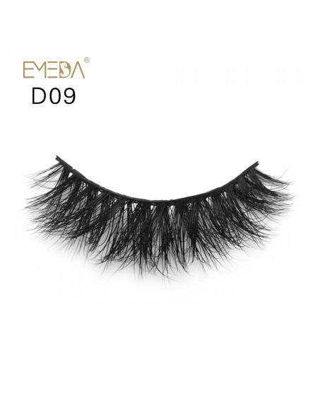 Mink 3D mink diamond grade D09 Lashes Dramatic Makeup High Quality Strip Eyelashes 100% Siberian Fur Fake Eyelashes Hand-made False Eyelashes
