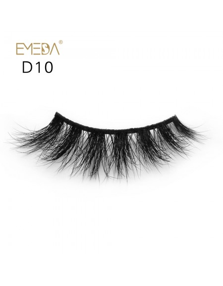 Mink 3D mink diamond grade D010 Lashes Dramatic Makeup High Quality Strip Eyelashes 100% Siberian Fur Fake Eyelashes Hand-made False Eyelashes