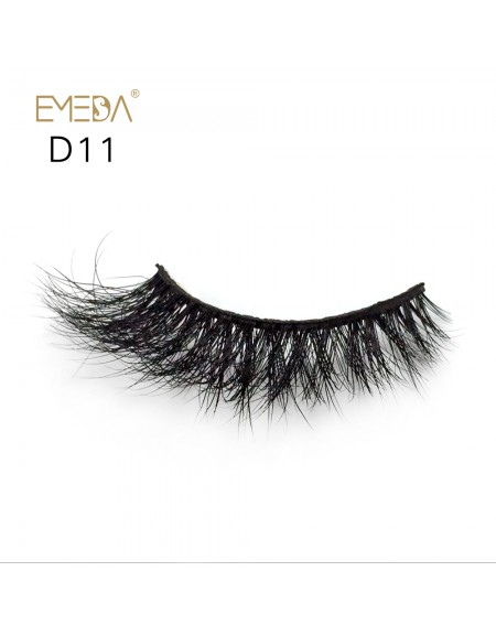 Mink 3D mink diamond grade D011 Lashes Dramatic Makeup High Quality Strip Eyelashes 100% Siberian Fur Fake Eyelashes Hand-made False Eyelashes