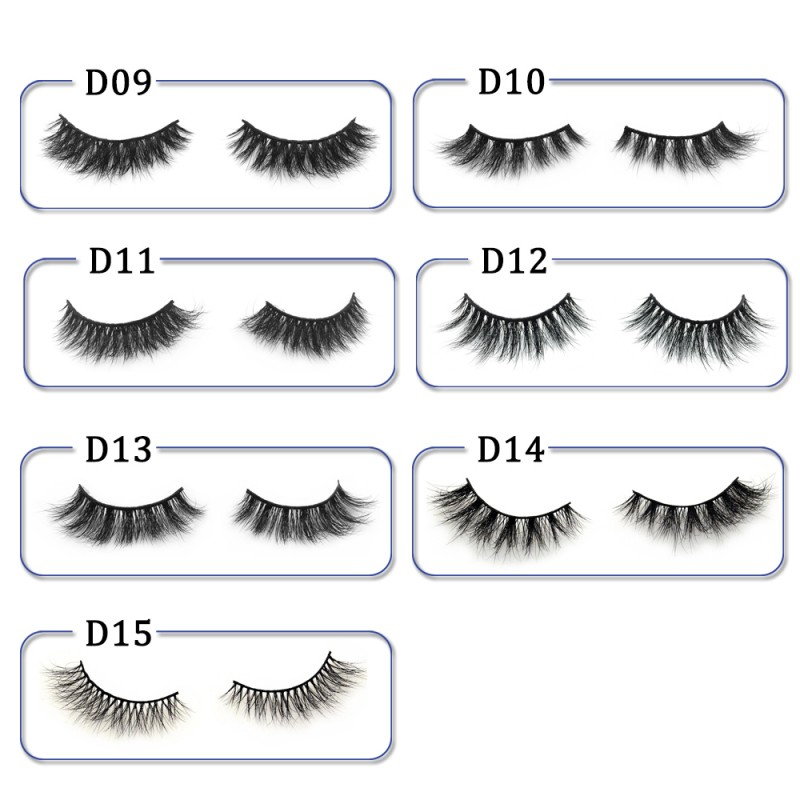 High Quality 3D Mink Lashes Diamond Grade D012