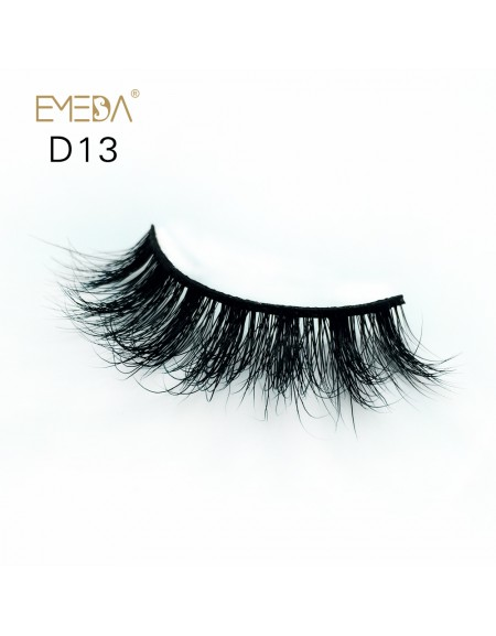 Mink 3D mink diamond grade D013 Lashes Dramatic Makeup High Quality Strip Eyelashes 100% Siberian Fur Fake Eyelashes Hand-made False Eyelashes