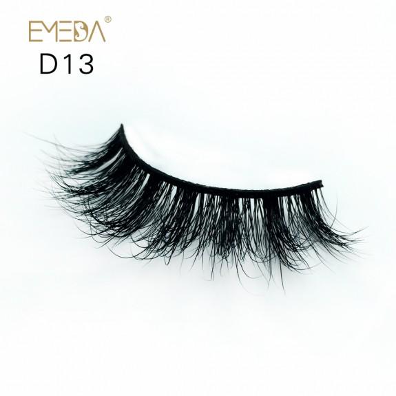 Mink 3D mink diamond grade D013 Lashes Dramatic Makeup High Quality Strip Eyelashes 100% Siberian Fur Fake Eyelashes Hand-made False Eyelashes