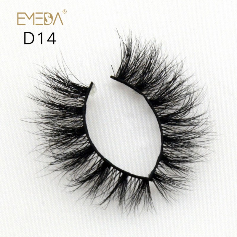 Mink 3D mink diamond grade D014 Lashes Dramatic Makeup High Quality Strip Eyelashes 100% Siberian Fur Fake Eyelashes Hand-made False Eyelashes