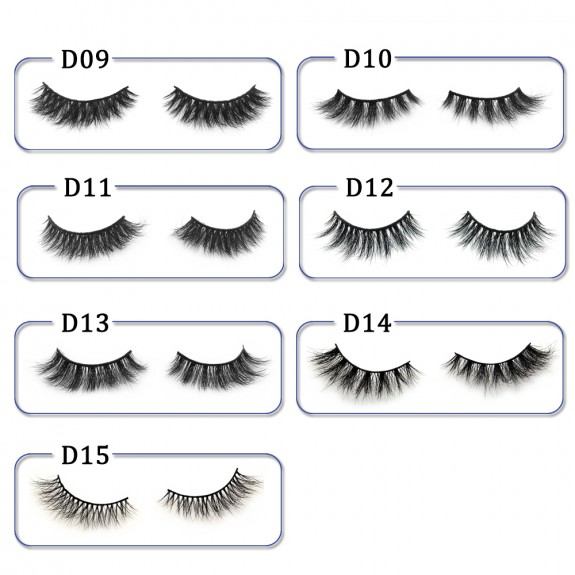 High Quality 3D Mink Lashes Diamond Grade D015