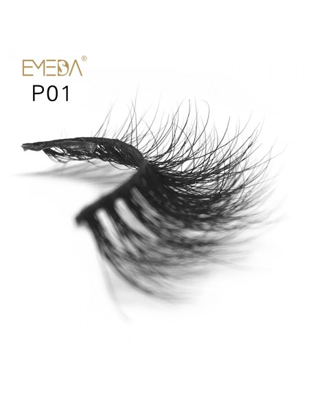 3D Mink platinum grade p01 100% Handmade Strip Lashes, Pinkzio Reusable Extra Thick, Dramatic Volume Double Layer Fake Lashes