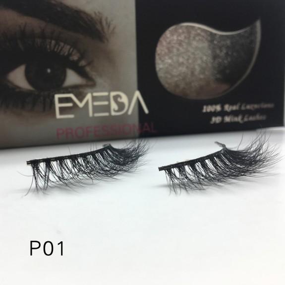 3D Mink platinum grade p01 100% Handmade Strip Lashes, Pinkzio Reusable Extra Thick, Dramatic Volume Double Layer Fake Lashes