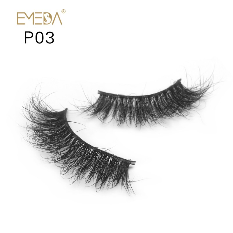 3D Mink platinum grade p03 100% Handmade Strip Lashes, Pinkzio Reusable Extra Thick, Dramatic Volume Double Layer Fake Lashes