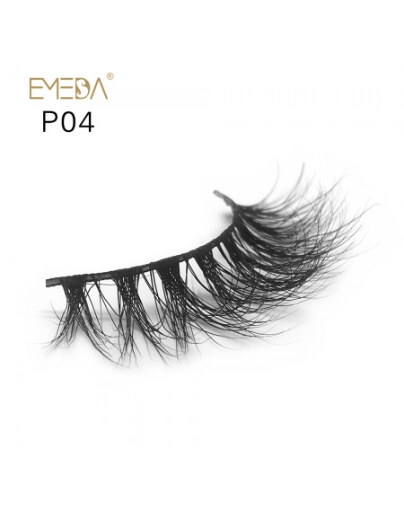 3D Mink platinum grade p04 100% Handmade Strip Lashes, Pinkzio Reusable Extra Thick, Dramatic Volume Double Layer Fake Lashes