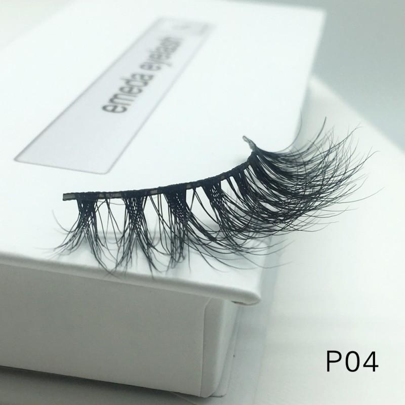 3D Mink platinum grade p04 100% Handmade Strip Lashes, Pinkzio Reusable Extra Thick, Dramatic Volume Double Layer Fake Lashes