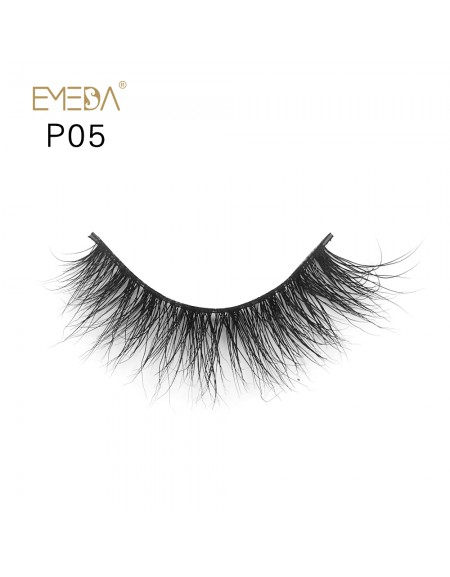 3D Mink platinum grade p05 100% Handmade Strip Lashes, Pinkzio Reusable Extra Thick, Dramatic Volume Double Layer Fake Lashes