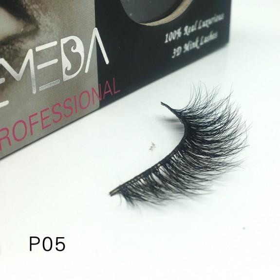 3D Mink platinum grade p05 100% Handmade Strip Lashes, Pinkzio Reusable Extra Thick, Dramatic Volume Double Layer Fake Lashes