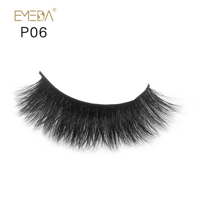 3D Mink platinum grade p06 100% Handmade Strip Lashes, Pinkzio Reusable Extra Thick, Dramatic Volume Double Layer Fake Lashes
