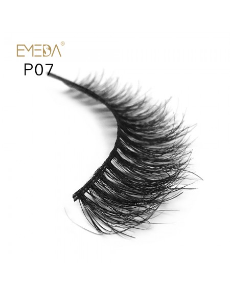 3D Mink platinum grade p07 100% Handmade Strip Lashes, Pinkzio Reusable Extra Thick, Dramatic Volume Double Layer Fake Lashes