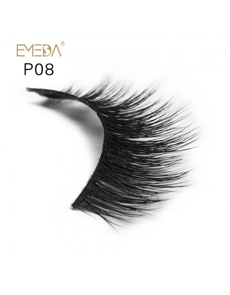 3D Mink platinum grade p08 100% Handmade Strip Lashes, Pinkzio Reusable Extra Thick, Dramatic Volume Double Layer Fake Lashes