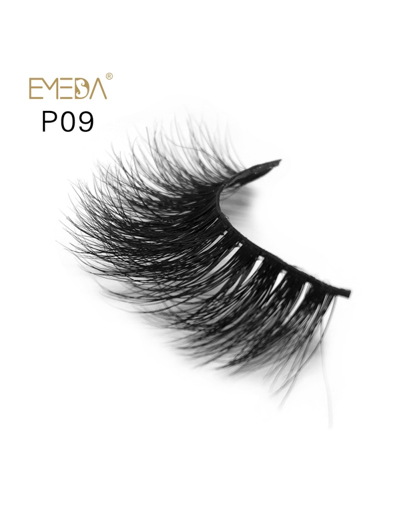 3D Mink platinum grade p09 100% Handmade Strip Lashes, Pinkzio Reusable Extra Thick, Dramatic Volume Double Layer Fake Lashes