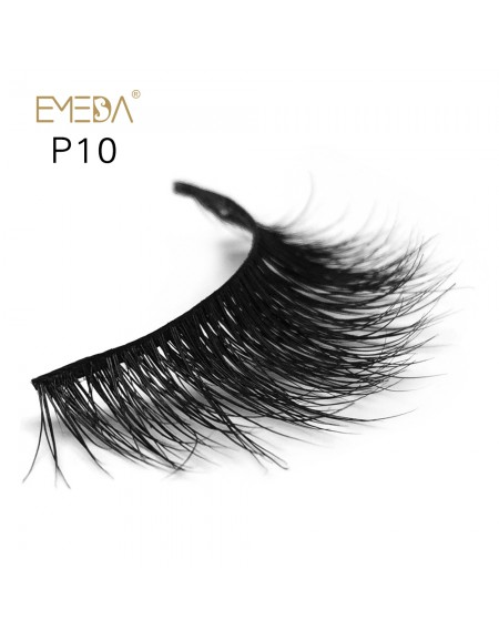 3D Mink platinum grade p010 100% Handmade Strip Lashes, Pinkzio Reusable Extra Thick, Dramatic Volume Double Layer Fake Lashes
