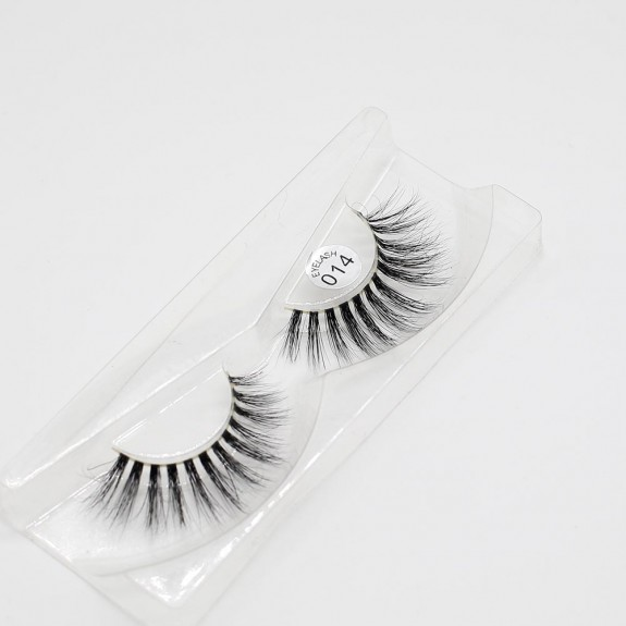 EMEDA 3D 014 Mink Magnetic False Eyelashes Long Thick Mink Magnetic Eyelashes Siberian Mink Fur Lash with Magnet