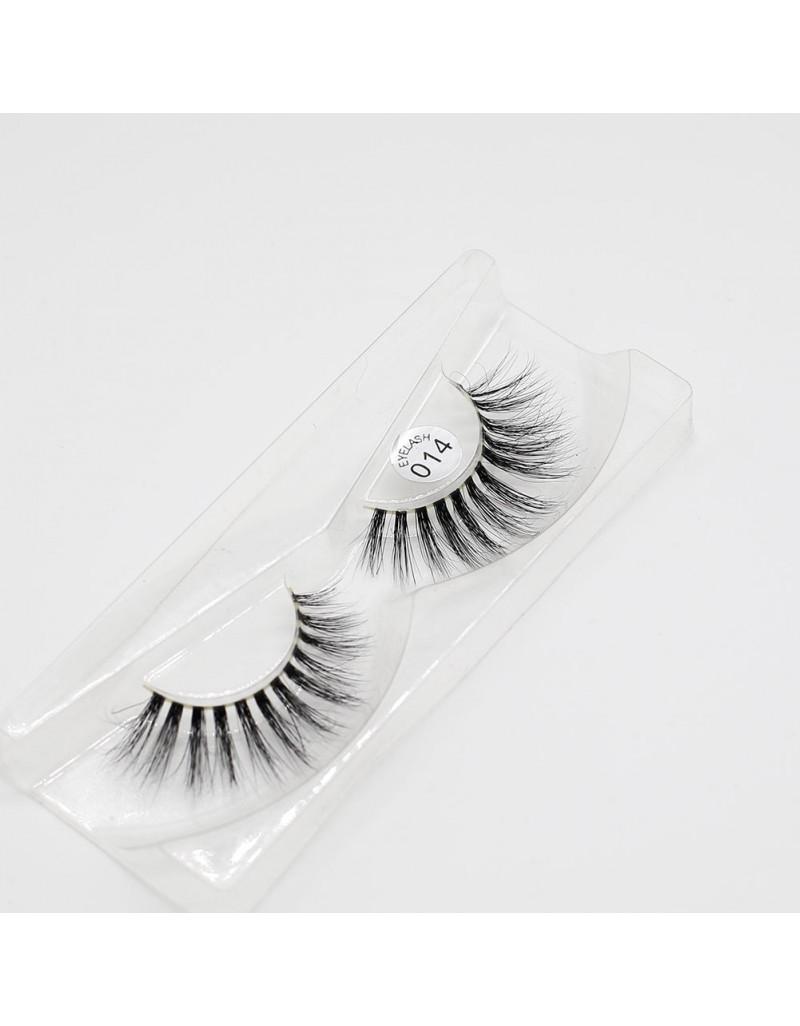 EMEDA 3D 014 Mink Magnetic False Eyelashes Long Thick Mink Magnetic Eyelashes Siberian Mink Fur Lash with Magnet