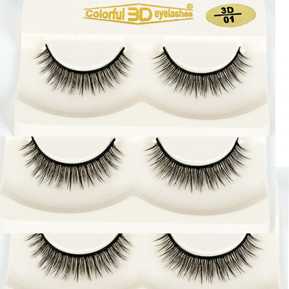 Factory Price High Quality 3D Silk diamond grade lashes 3 pairs 3D01