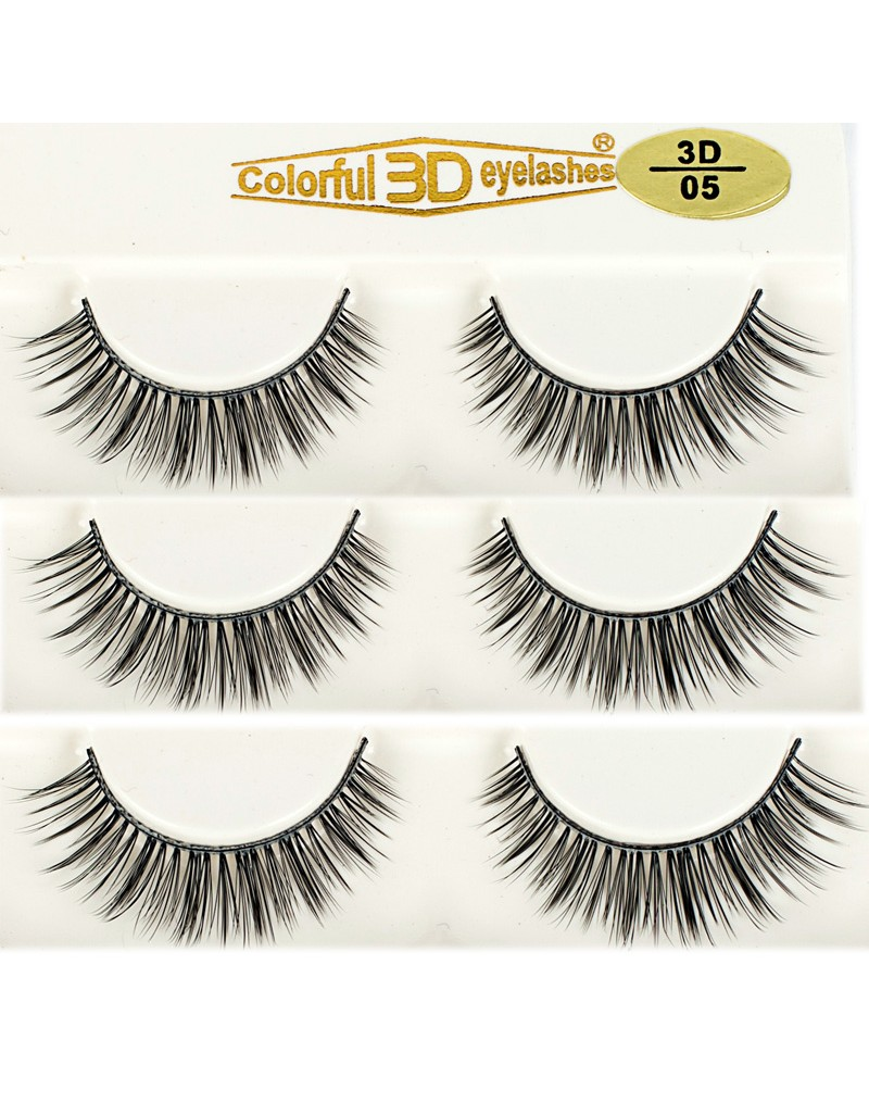 Hot Selling 3D Silk diamond grade lashes China suppliers 3 pairs 3D05