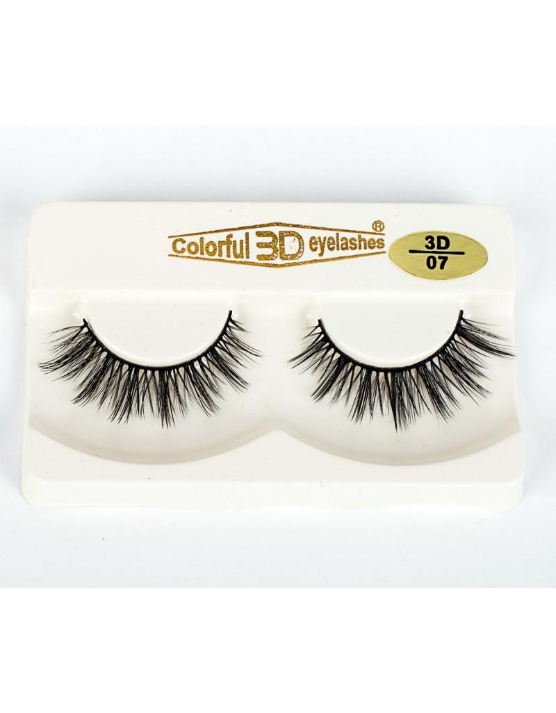 Natural Looking 3D Silk diamond grade lashes China suppliers 3 pairs 3D07
