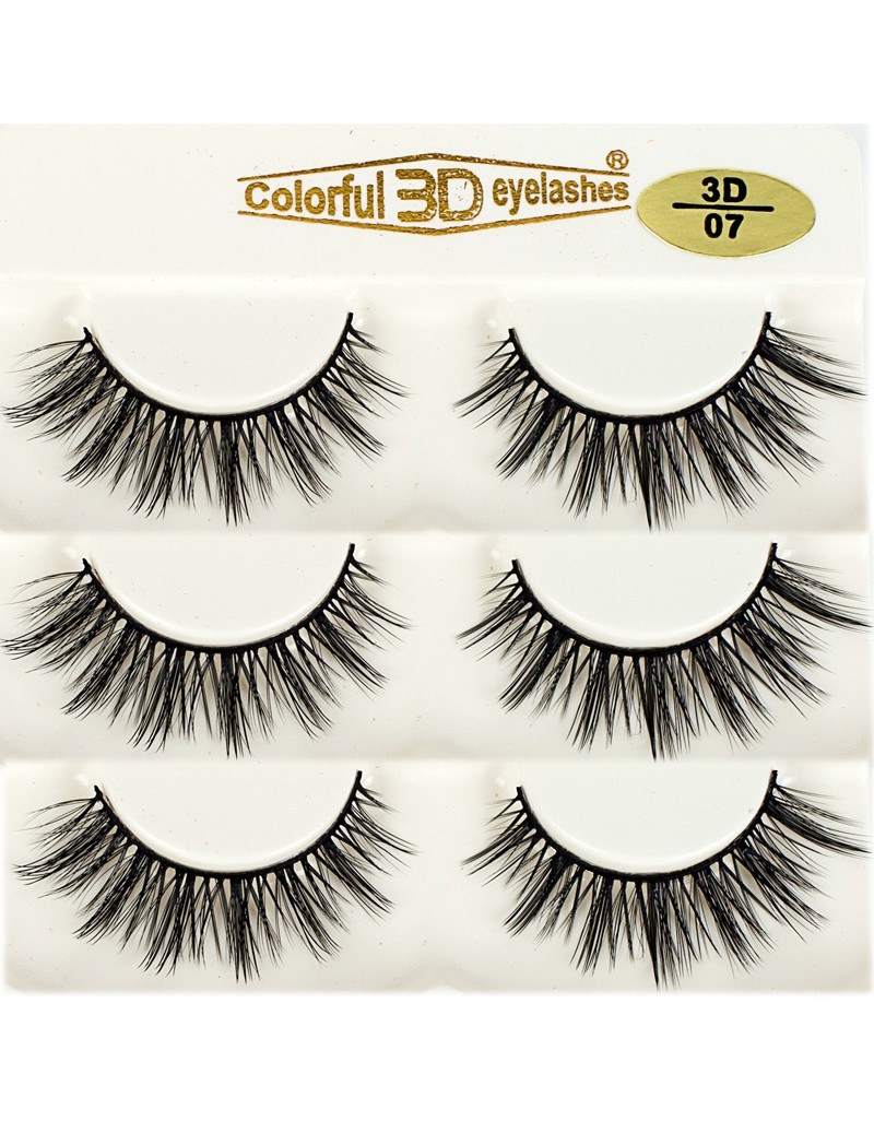 Natural Looking 3D Silk diamond grade lashes China suppliers 3 pairs 3D07