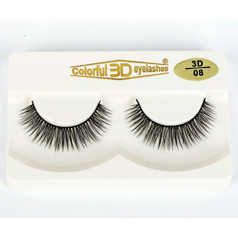 Whosale Best quality 3D Silk diamond grade lashes China suppliers 3 pairs 3D08