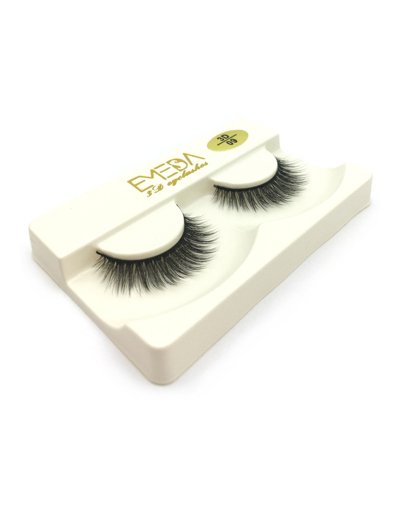 100% handmade 3D Silk diamond grade lashes China suppliers 3 pairs 3D09